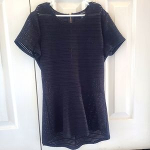 XS Black Le Chateau Top with Gold Zipper